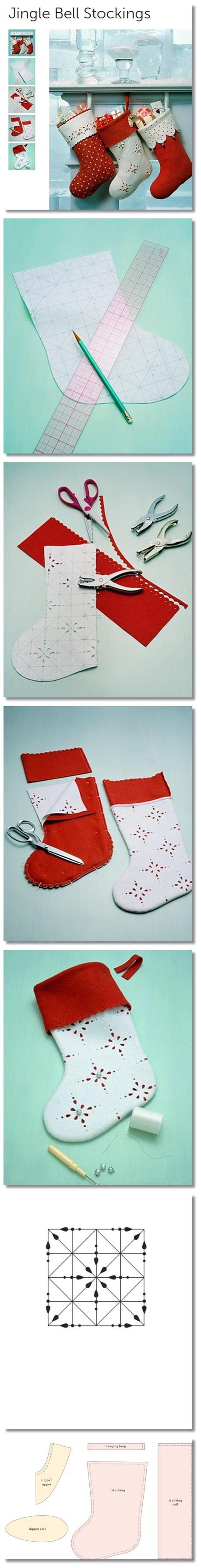 Jingle bell stocking so cute ^ na boże narodzenie