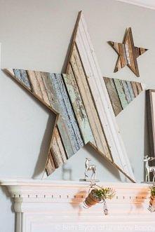 drewniana gwiazda
