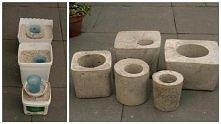 cementowe pojemniki na rośliny
