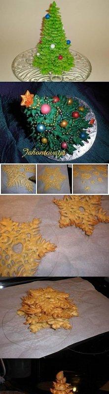 dough, christmas tree, tuto...
