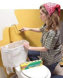 malujemy za muszlą toaletową