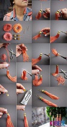 Pomysł na sznurowe kolczyki