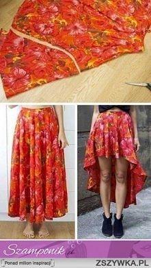 Fajny sposób na starą spódnice :)