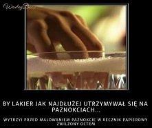 aby lakier dłużej utrzymywał się na paznokciach
