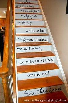 schody z przesłaniem