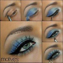 Makijaż dla niebieskich oczu na sylwestra.