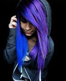 niebieski i fioletowy