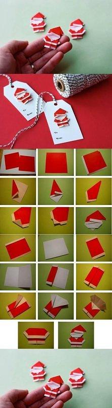 diy, paper santa, santa claus, tutorial
