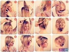 Ciekawe upięcie włosów patyczkami
