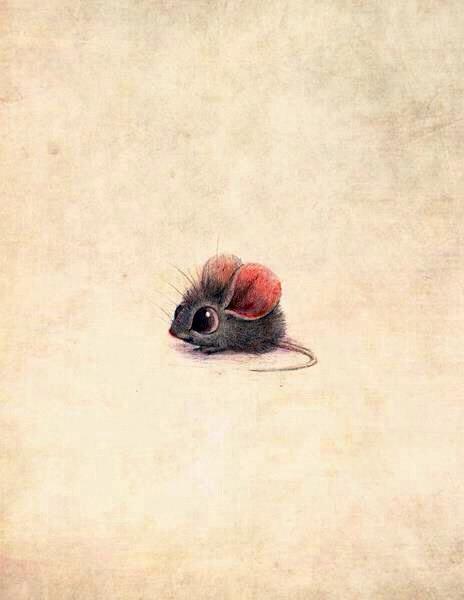 Dla tych którzy maja ciężki dzień - wstawiam przesłodką myszkę :)