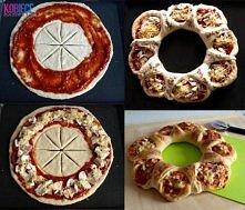 Składniki: Ciasto: 3 szklanki mąki, 30 g świeżych drożdży, 2 łyżki mleka, 1 łyżeczka soli, szczypta cukru, 2 łyżki oleju, 1 szkl. letniej wody. Sos pomidorowy: 300 ml przecieru ...
