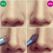 optyczne wyszczuplenie nosa :)