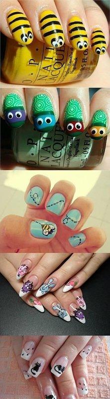 diy, animal nail art, instructions, tutorial