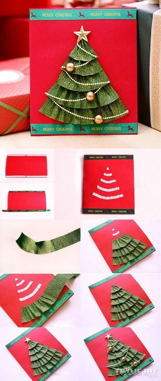 Новогодние открытки своими руками легкие
