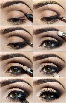 Makijaże brązowe oczy