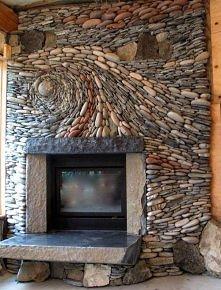 Zrób piękny kominek z kamieni polnych i cementu .