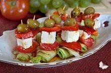 Sałatka grecka na jeden kęs! Klik