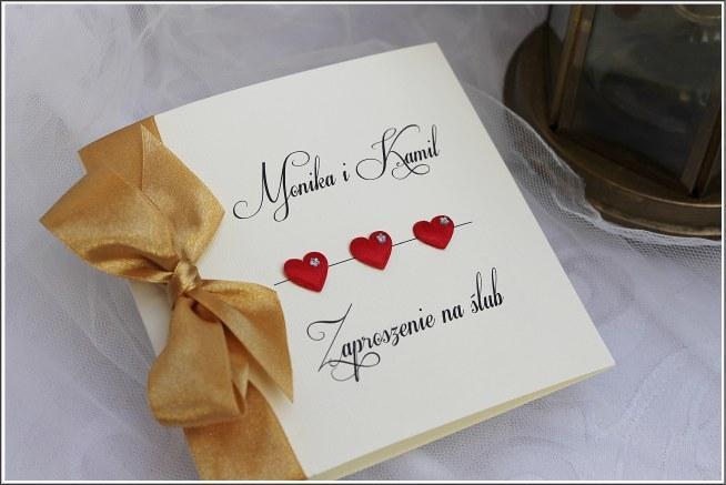 Zaproszenia ślubne Ręcznie Robione Allegro Skarlet Styl Zapra Na