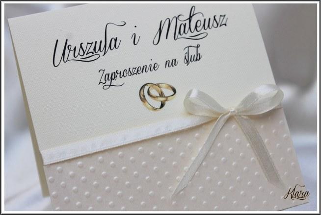 Zaproszenia ślubne Allegro Skarlet Styl Na Zaproszenia ślubne