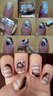 Pomysł na paznokcie. Gazeta inaczej :D
