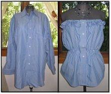 tunika z męskiej koszuli