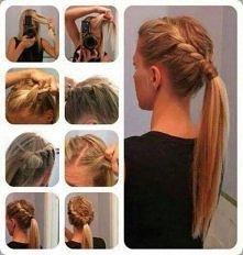 prosta fryzura do szkoły :)