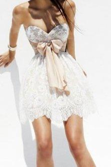 krótka weselna sukienka