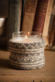 Twoje świeczki marzną zimą? Ubierz je w sweterki!