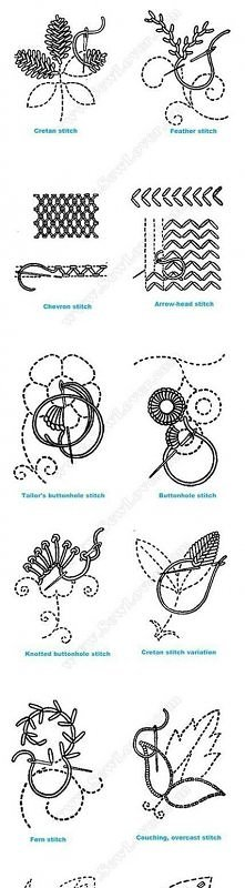 diy, stitches, types embroidery, instructions