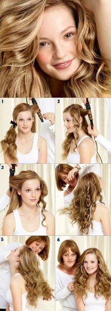 Fale na włosach mogą utrzymać się cały dzień, jeżeli podczas podkręcania włosów każde pasmo spryskasz lakierem. Zanim zaczniesz podkręcać włosy wetrzyj w nie piankę, która doda ...