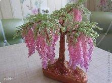 wisteria z koralików