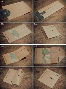 DIY opakowanie na płyty cd
