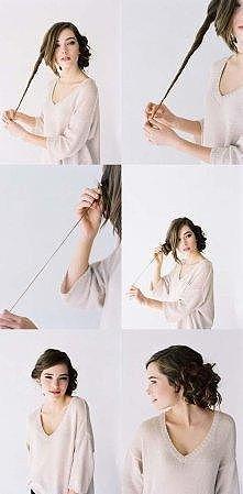 Prosty sposób na fryzurkę ;p