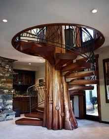 *** piękne drewniane schody ***