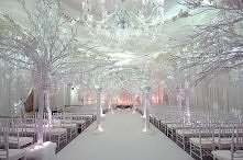 dekoracja na zimowy ślub