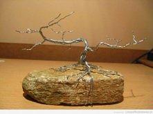 Drzewko Bonsai z drutu ^^