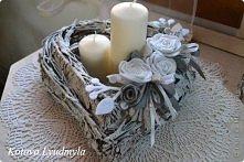 dekoracja z gałęzi i kory -...
