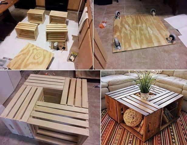 From wine crate to coffee table. Do It Yourself