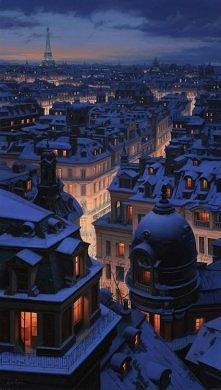 Paryż zimą - Eugene Lushpin