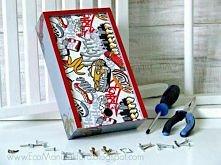 decoupage męski :) Pudełko dla chłopca