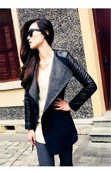 Czarny płaszcz wiosenny