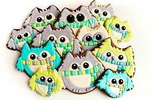 zimowe ciasteczka-sowy w sz...