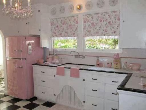 Biało Różowa Kuchnia Na Shabby Chic Zszywkapl