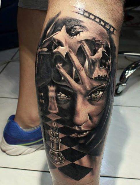 Na łydce Na Wzory Tatuaży Zszywkapl