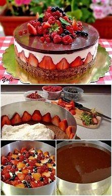 Ciasto z owocami :D