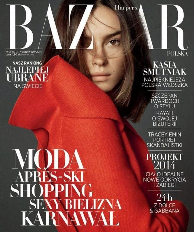 Kasia Smutniak In Harpers Bazaar Poland Januaryfebruary