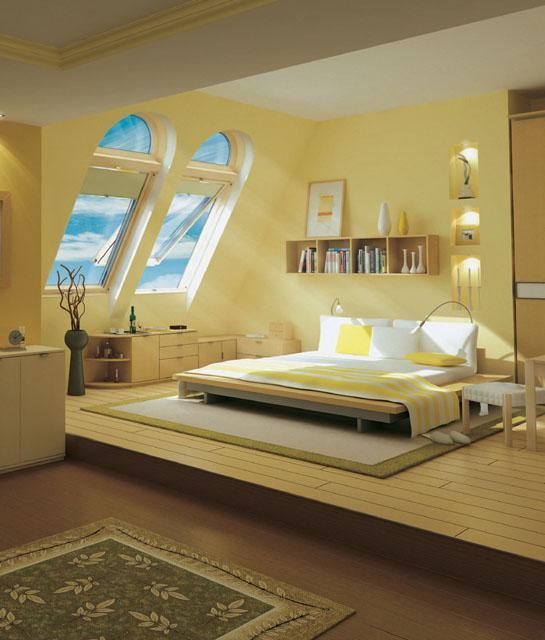 aranżacja sypialni na poddaszu :)