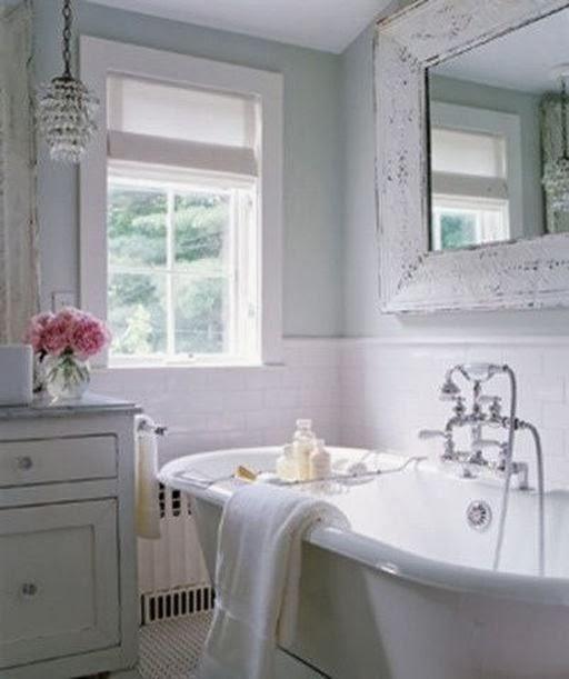 łazienka Na Biało Na Shabby Chic Zszywkapl