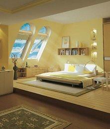 aranżacja sypialni na podda...