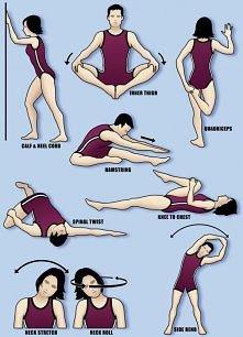 Ćwiczenia rozciągające pomagające wykonać szpagat ♥ Próbujecie zrobić razem z...